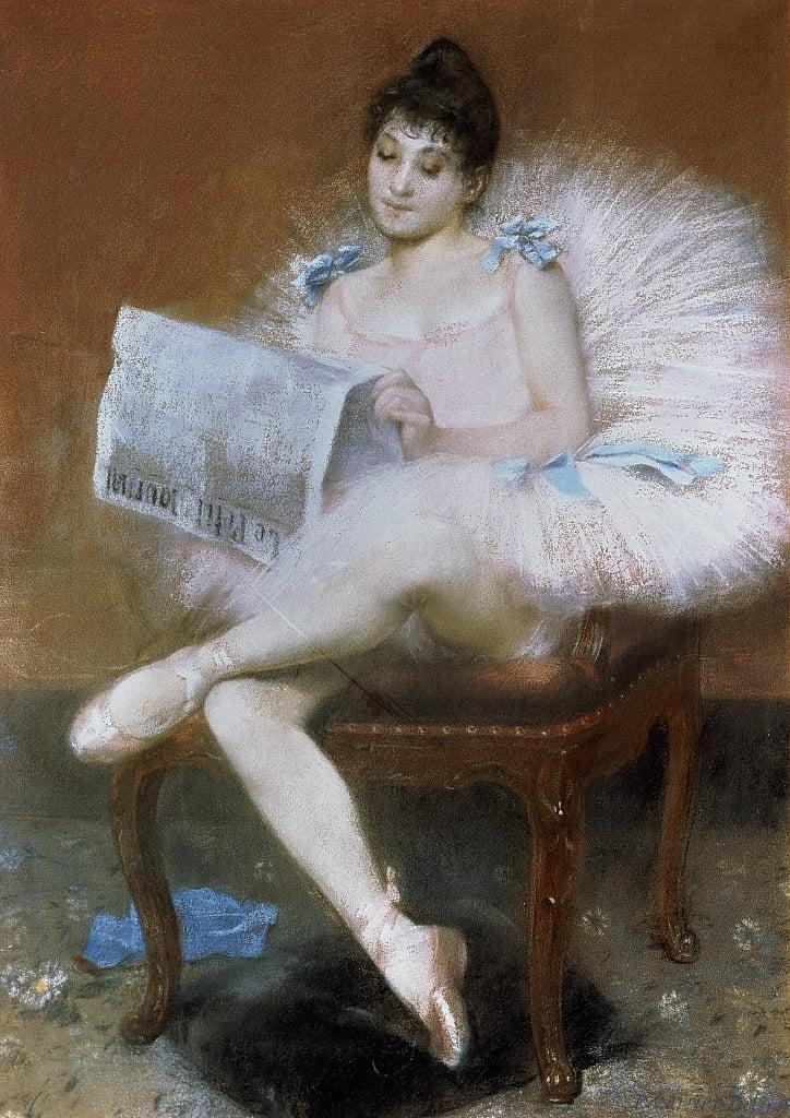 Pierre_Carrier Belleuse 1890 Sitting_Ballet_Dancer