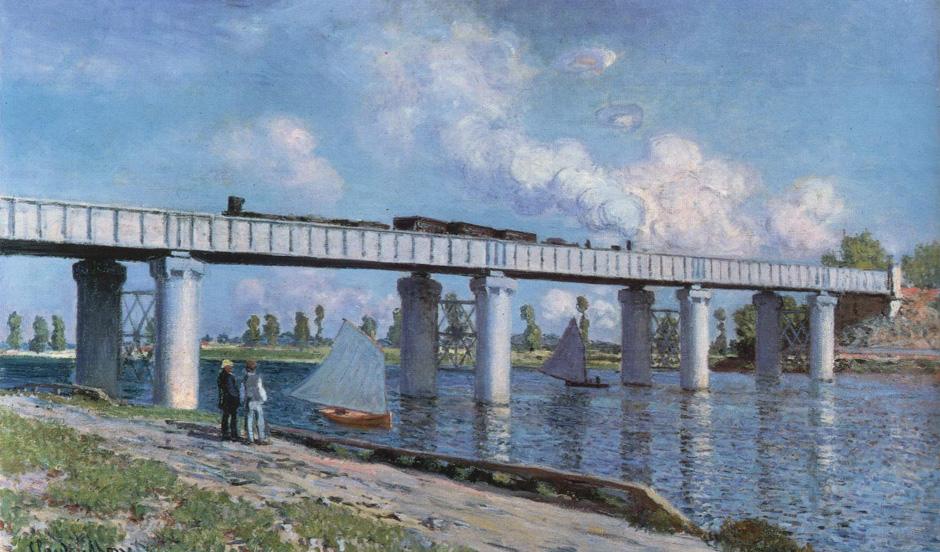 Monet Le Pont du chemin de fer à Argenteuil 1873