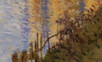 Monet Le Pont de chemin de fer, Argenteuil 1874 Barrière