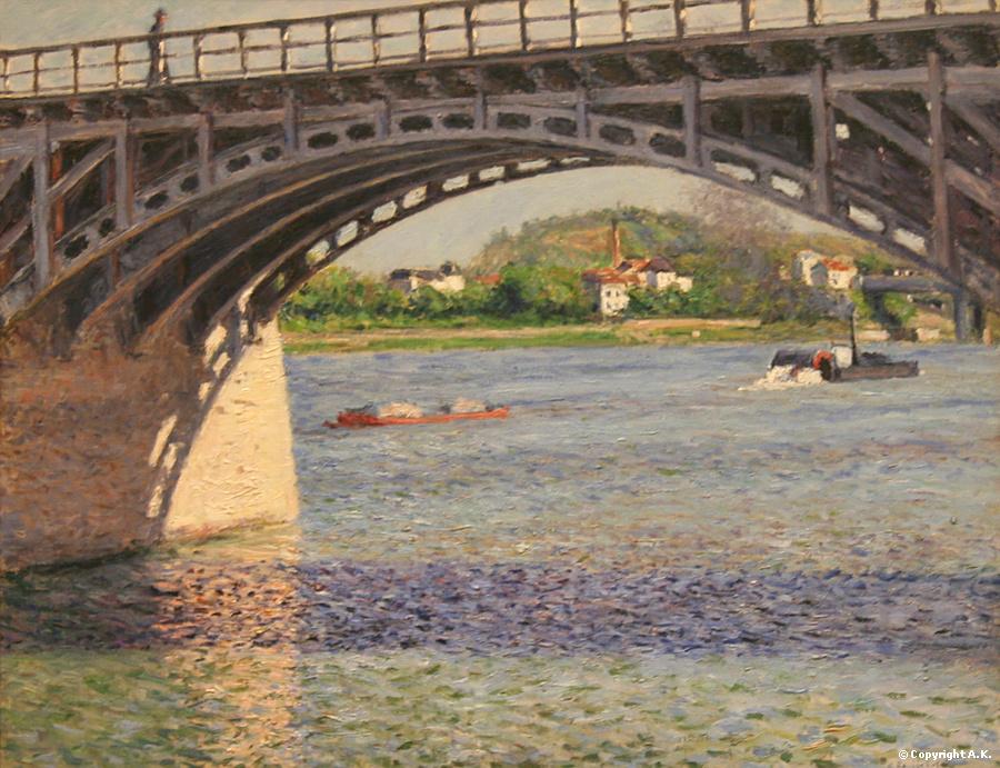 Le Pont d'Argenteuil et la Seine Caillebotte, 1885-1887