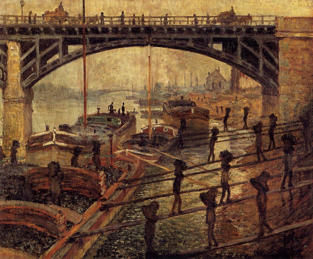 Les charbonniers ou Les chargeurs de charbon, Claude Monet, 1875