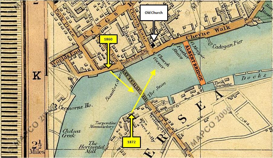 Cross's New Plan Of London 1850, Chelsea