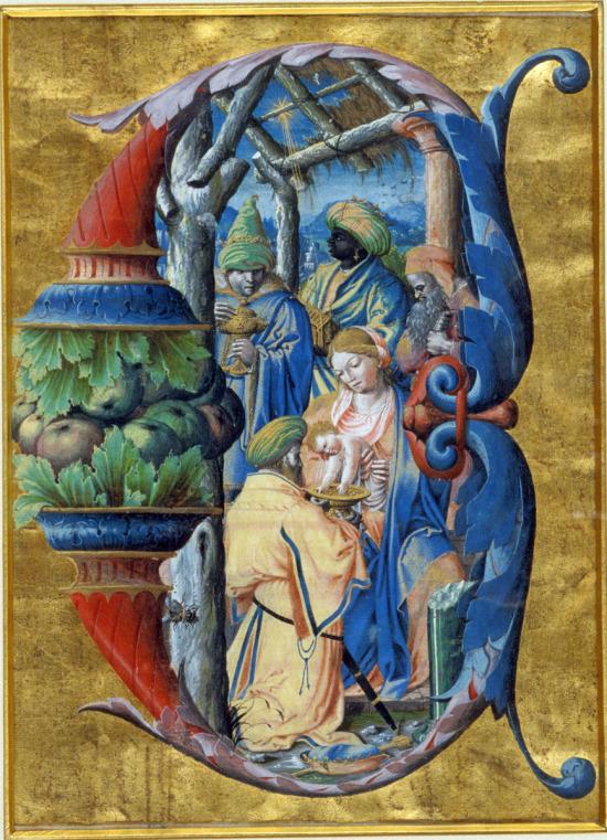 Adoration des Mages Antoine Olivier 1533-35 Antiphonaire de Philippe de Levis eveque de Mirepoix Musee des Augustins toulouse