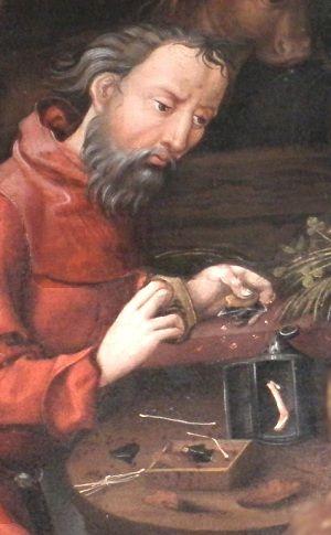Martin DIEBOLD Retable Jugement Dernier Haguenau 1496-1497 Nativite Joseph silex