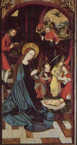 Martin DIEBOLD Retable Jugement Dernier Haguenau 1496-1497, Nativite