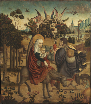 Rest on the Flight into Egypt (after Martin Schongauer)