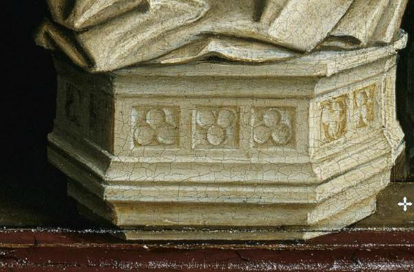 Van_Eyck_Annonciation_Diptyque_Detail Socle
