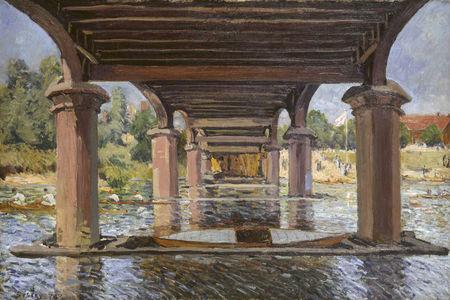 Alfred Sisley, Under the Bridge at Hampton Court, 1874. Kunstmuseum Winterthur.