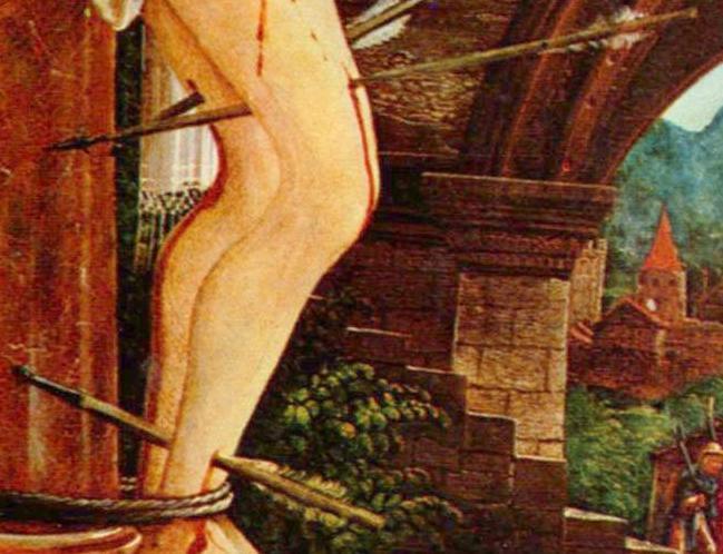 Altdorfer-Sebastien-Martyre-Jambe
