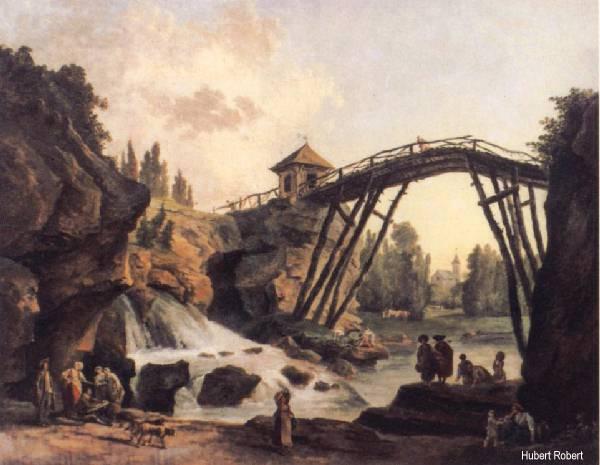 Pont_Sous_Pont_Hubert Robert Pont Mereville tableau