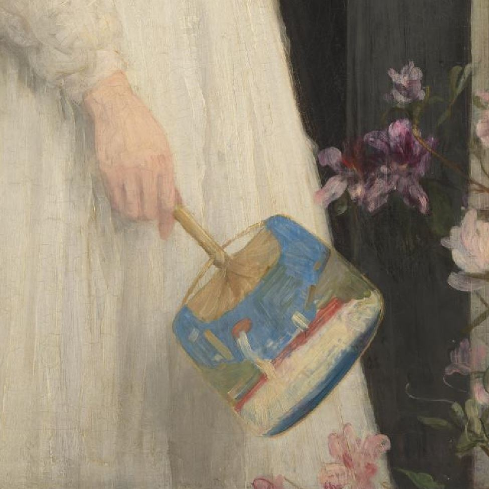 Whistler Symphony in white no 2 The little white girl, 1864 Tate Gallery main droite
