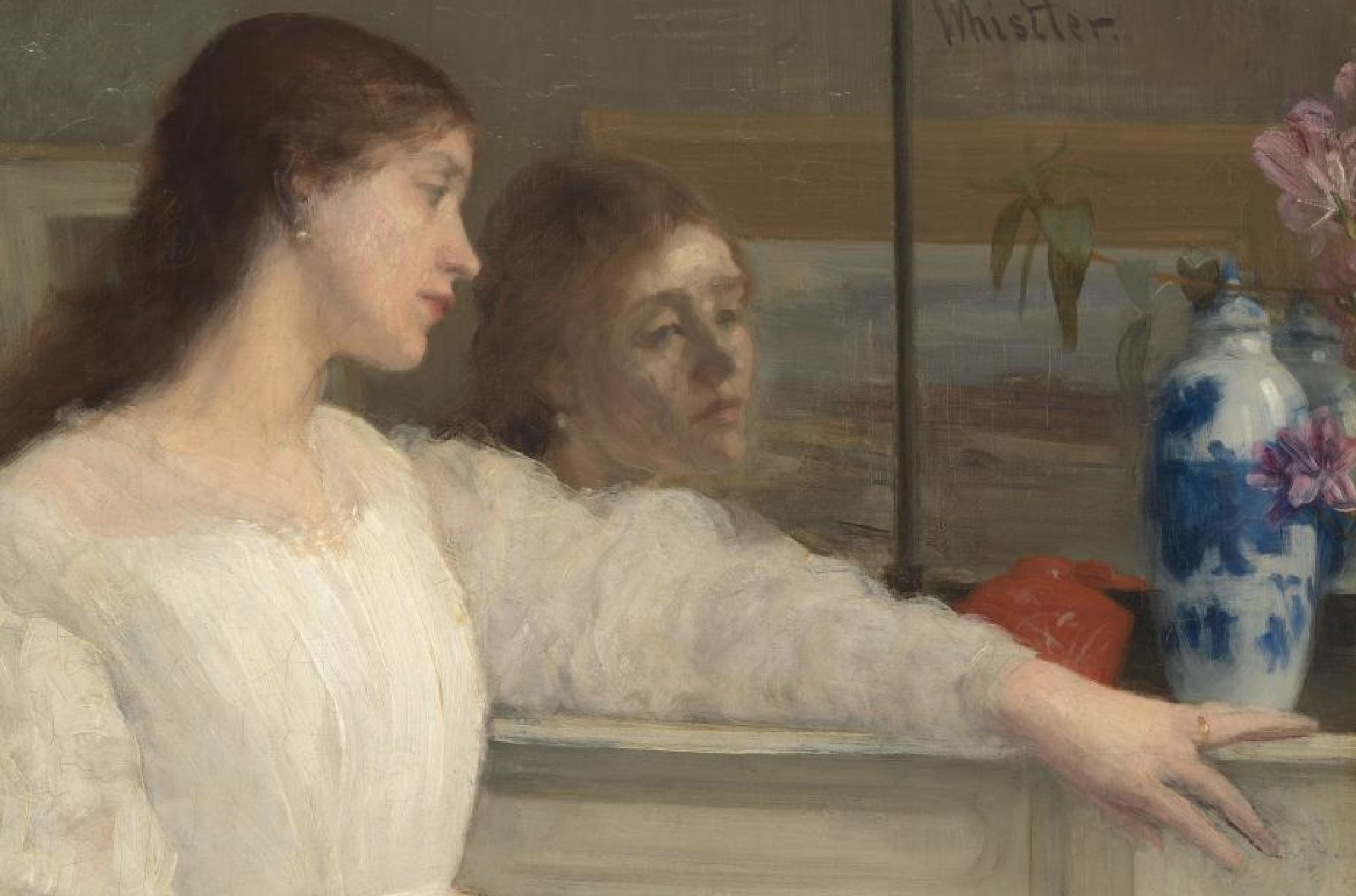 Whistler Symphony in white no 2 The little white girl, 1864 Tate Gallery main gauche