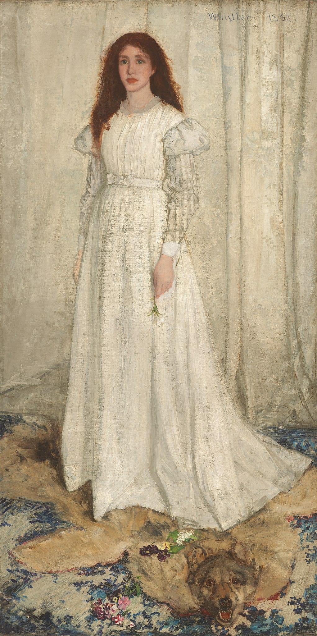 Whistler_James_Symphony_in_White_no_1_(The_White_Girl)_1862