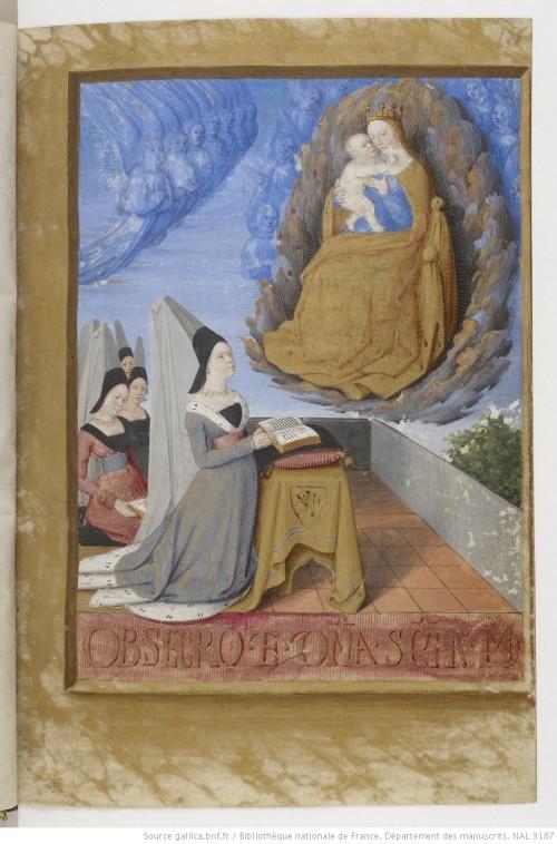 1475 ca Fouquet Heures dites de Baudricourt BNF Lat 3187 f 8