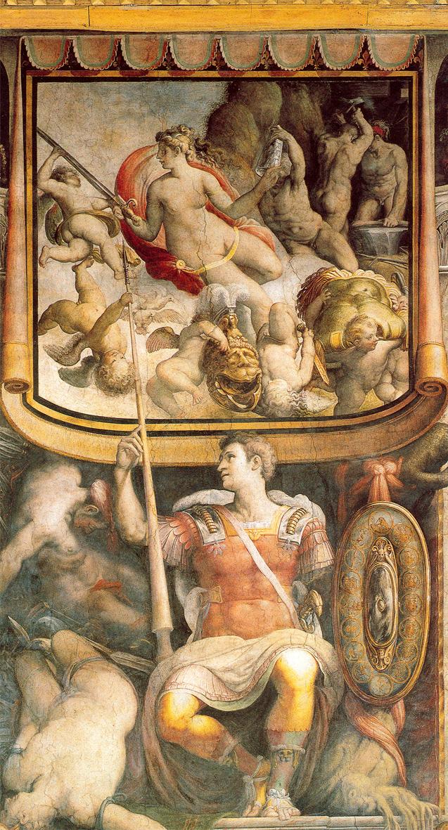 Cecco_Amour a la fontaine_Fresque_Salviati