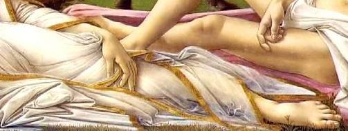 Botticelli_Venus_Mars_Gestes_Venus_Jambe