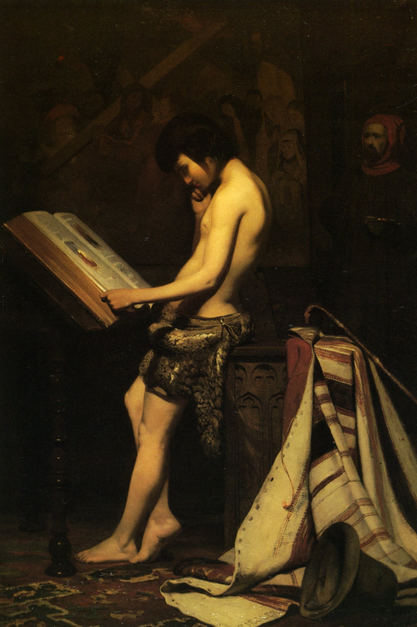1847  ziegler jules giotto dans l'atelier de cimabue