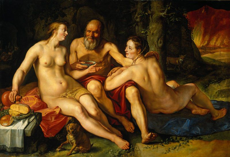 1616_ Golzius_ LOTH ET SES FILLES_Rijkmuseum