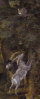 1616_Jan-Brueghel-the-Elder-and-Peter_Paul_Rubens-Garden-of-Eden_detail chevre
