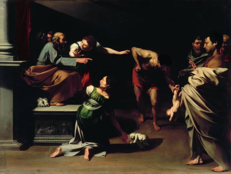 Jugement Salomon_Maitre de Salomon ou Ribera