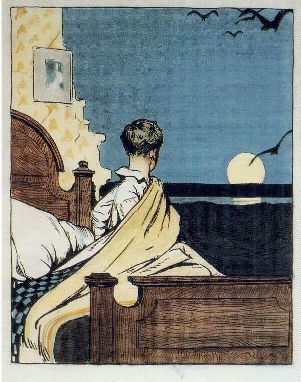 1906 Boy and Moon