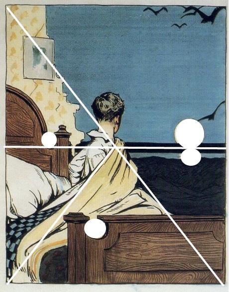 Hopper 1906 Boy and Moon_composition