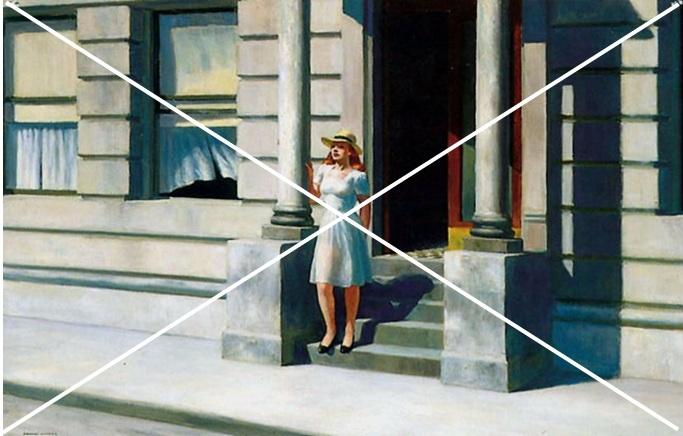 Hopper 1943 Summertime_diagonales