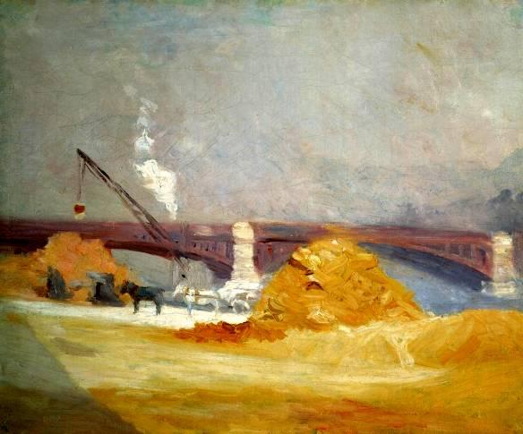 Hopper 1907 Pont du Carrousel in the Fog