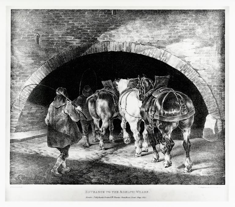 Gericault 1821 Entrance To The Adelphi Wharf,