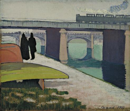 Emile Bernard Pont de fer à Asnières1887