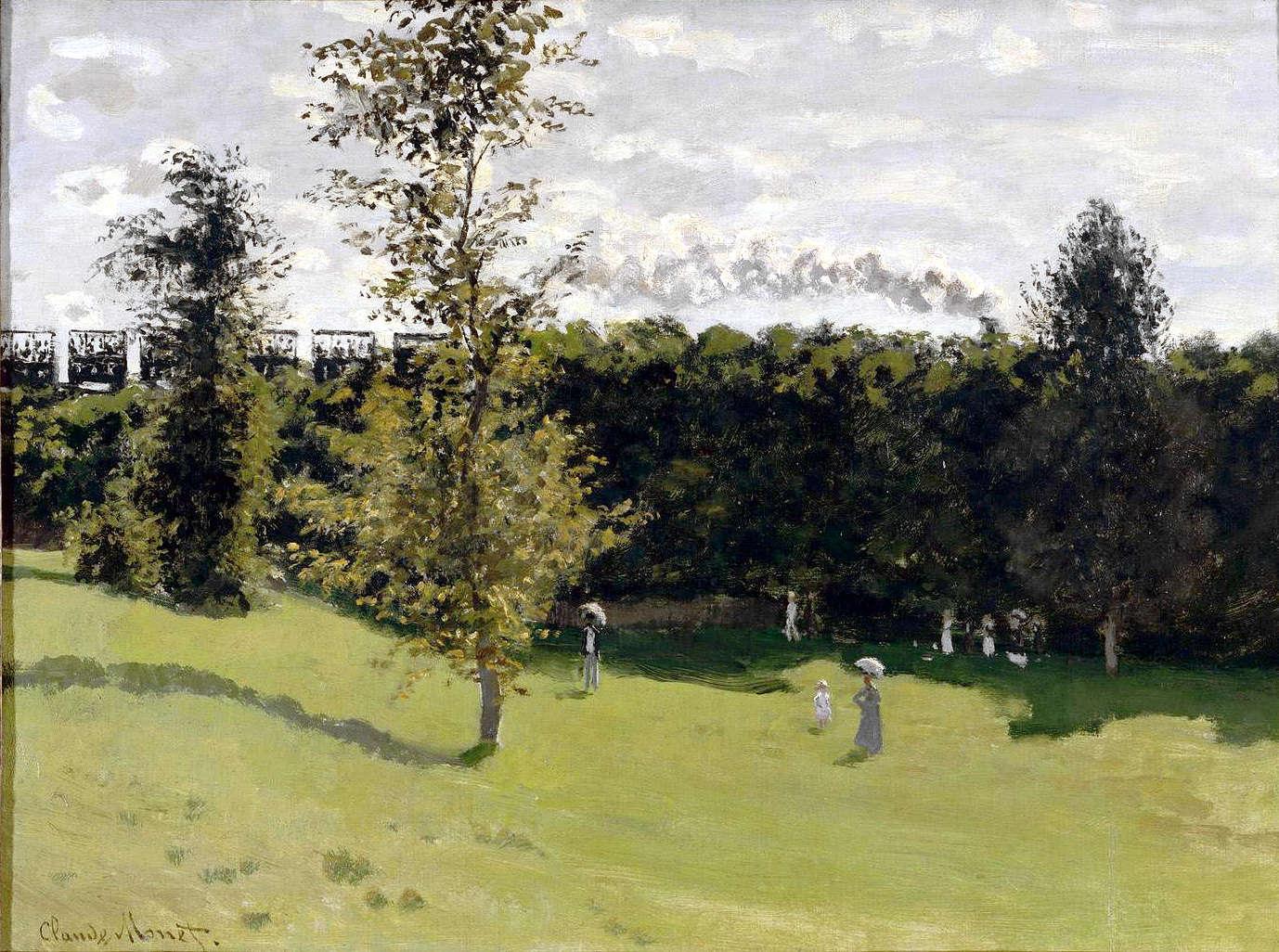 MonetTrain a la campagne 1870