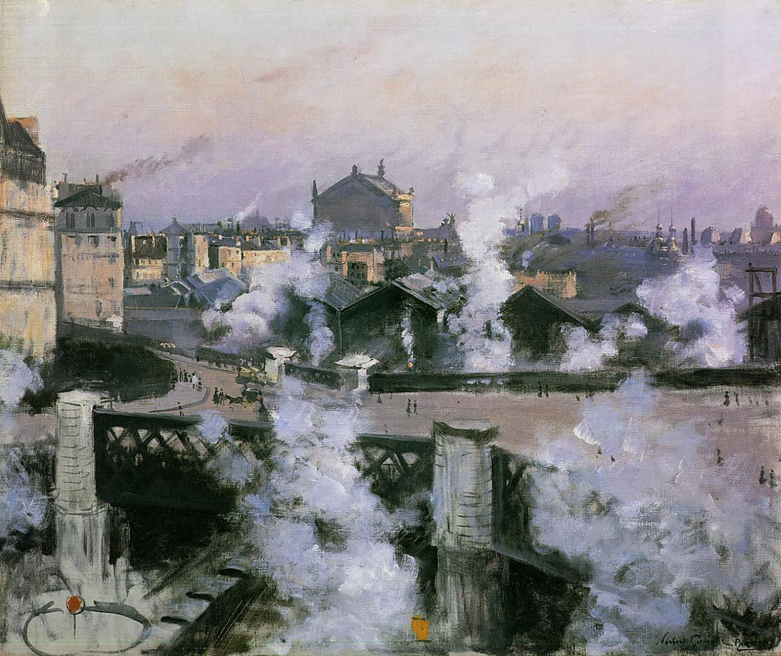 Norbert_Go eneutte_-The_Pont_de_l'Europe_and_Gare_Saint-Lazare