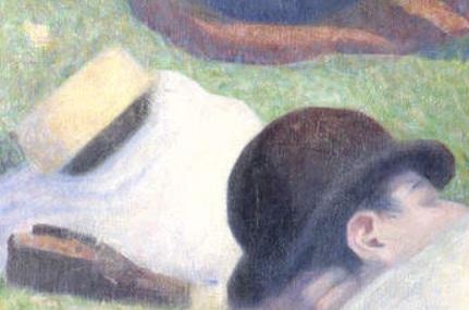 Seurat 1884 Baignade à Asnieres_canotier