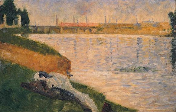 Seurat 1884 Baignade à Asnieres_plage
