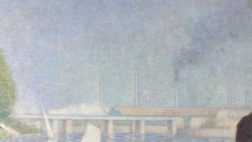 Seurat 1884 Baignade à Asnieres_train