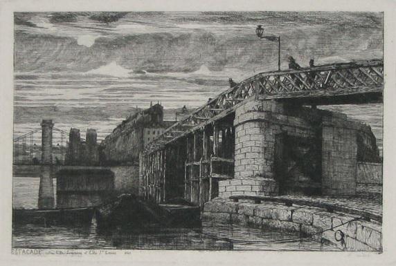 Estacade entre l'ile Louviers et l'ile St Louis, 1840 APMartial