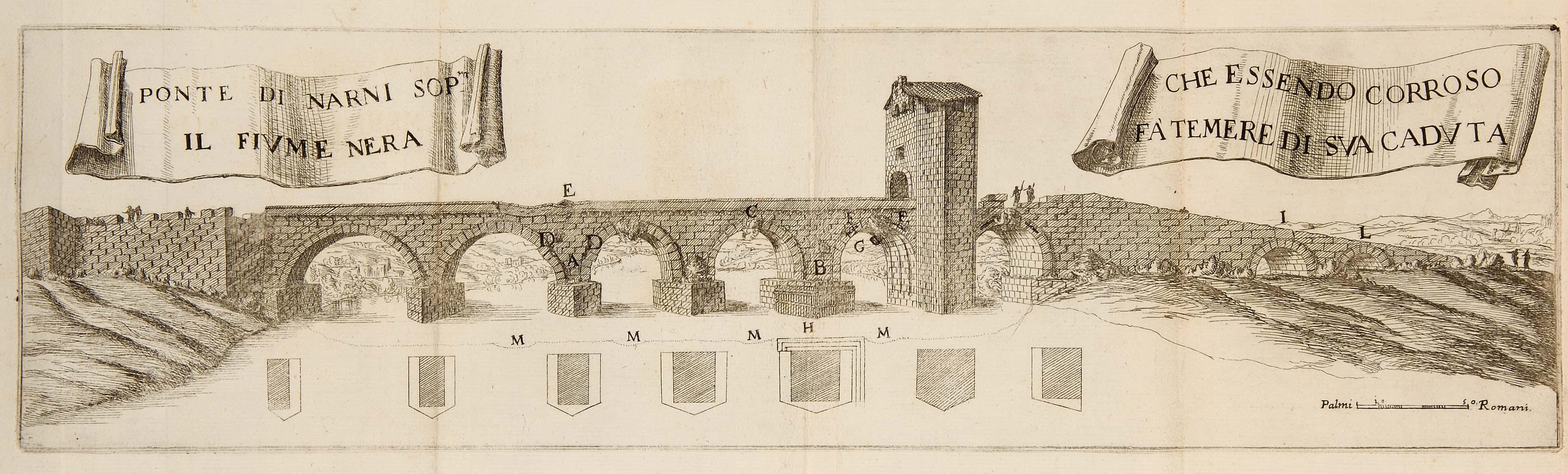 1676 MARTINELLI, AGOSTINO. DESCRITTIONE DI DIVERSI PONTI ESISTENTI SOPRA LI FIUMI