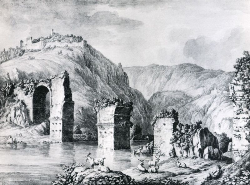 1776 ca Hackert dessin Vienna, Akademie der Bildenden Kunste - Kupferstichkabinet