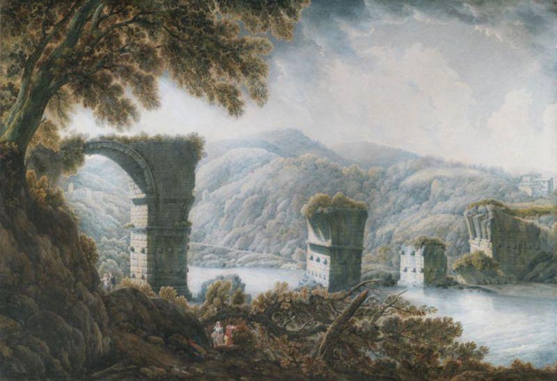 1786-89 ducros Wiltshire, Stourhead, National Trust