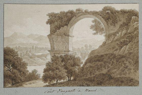 1790-Jean-Thomas Thibault dessin Pont de Narni