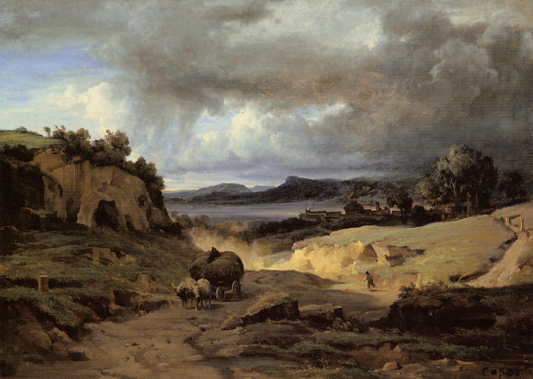 1827 Corot La campagne romaine-la-cervara