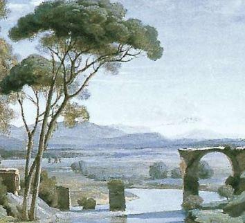 1827-Corot-Pont de Narni pins