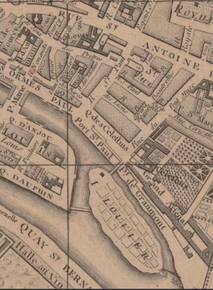 Estacade plan 1780 Jean Alibert