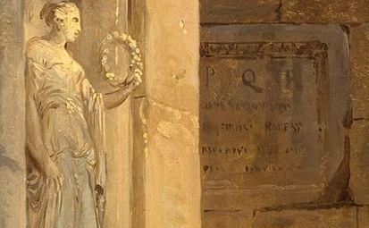 Hubert Robert 1775 _Ruins_with_an_obelisk_in_the_distance_SPQR