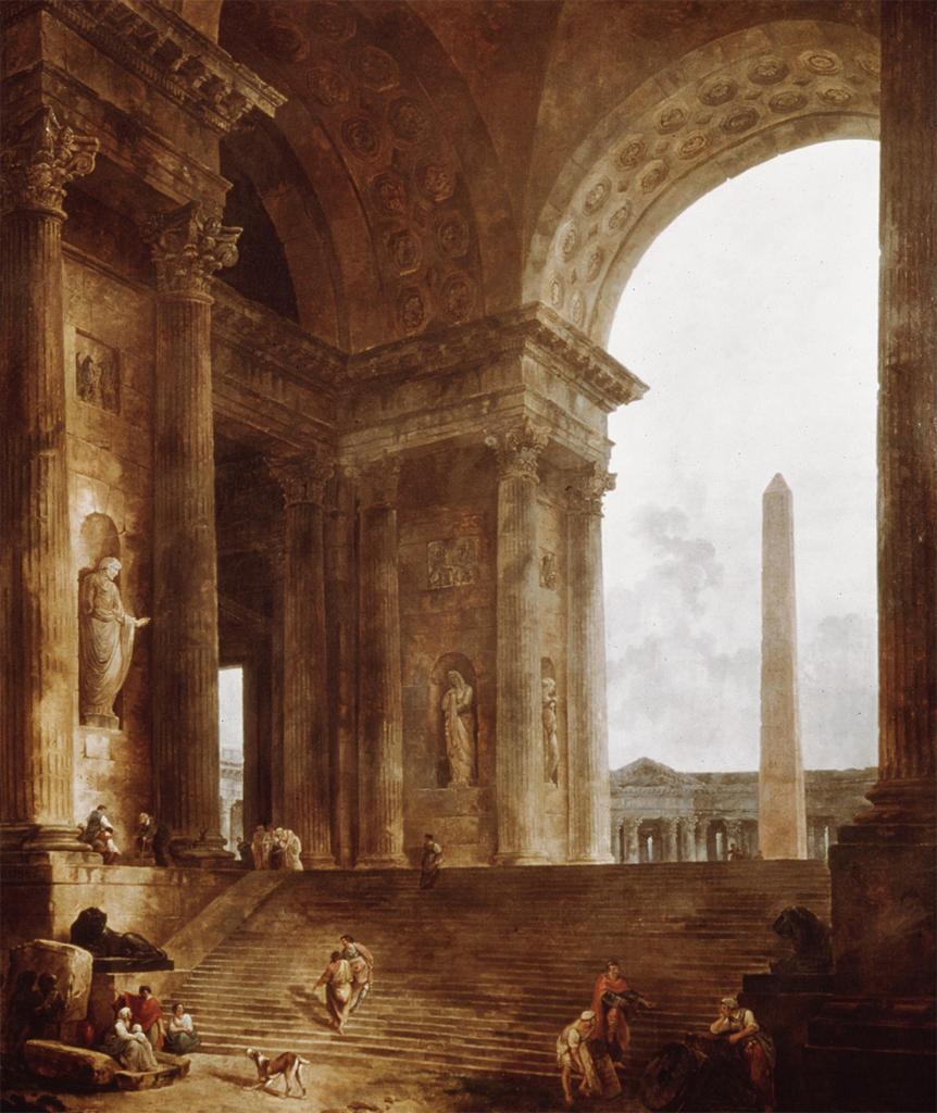 Hubert Robert 1787 L'obelisque