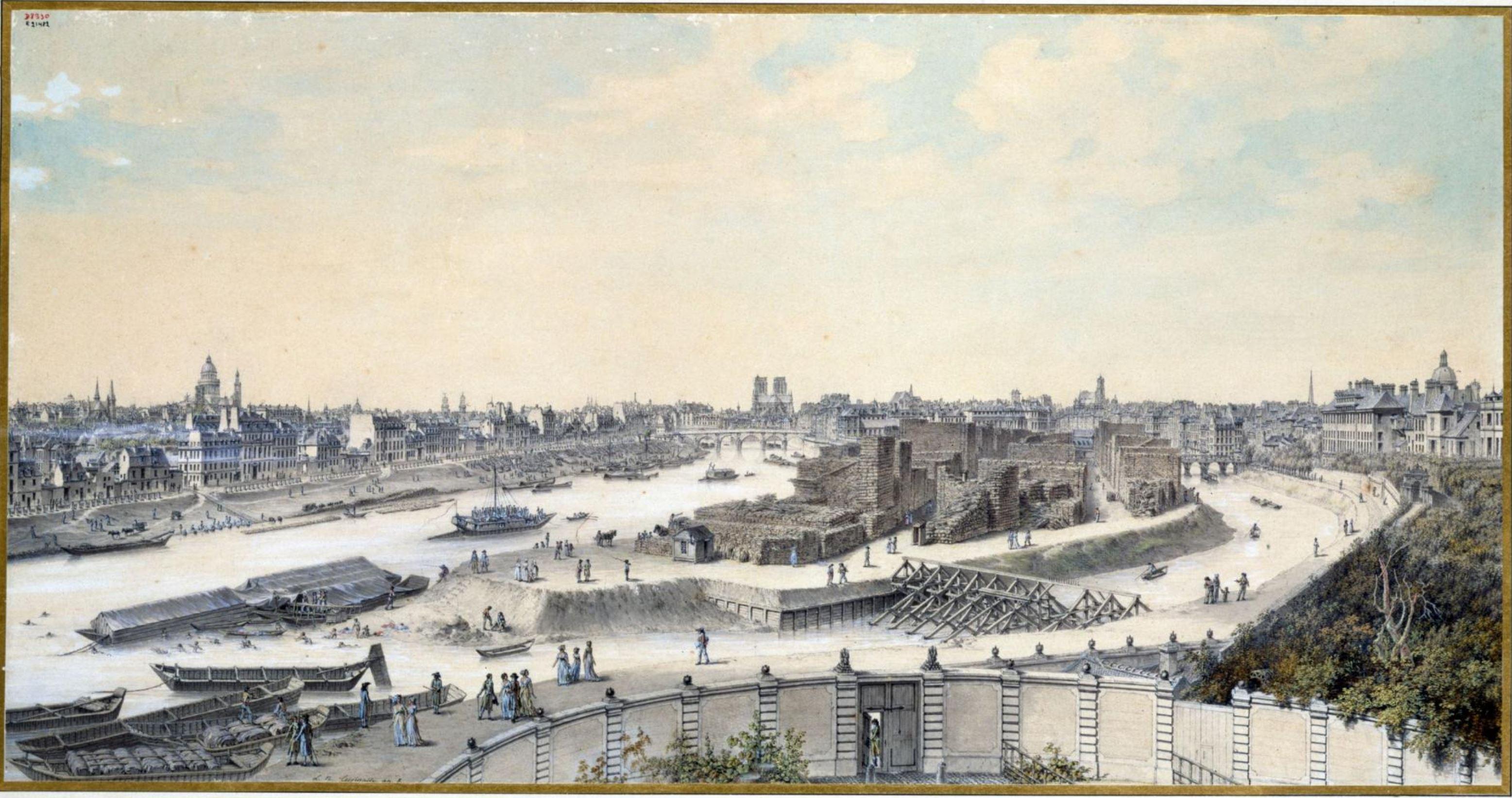 Louis Nicolas de Lespinasse 1799-1800 vue de Paris depuis l'Arsenal Musee Carnavalet