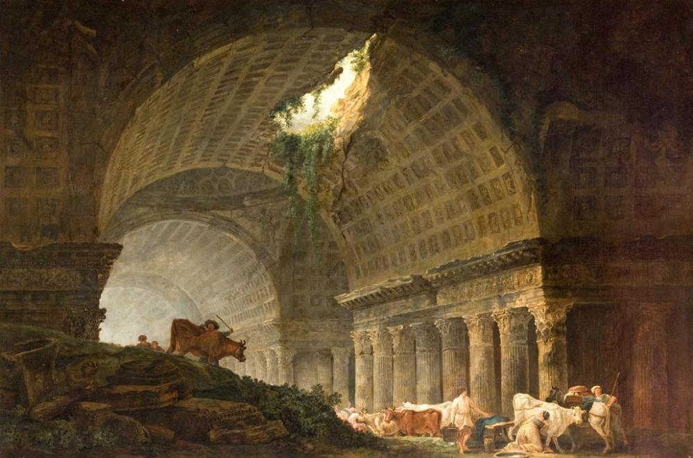 hubert robert 1785  galerie-en-ruines