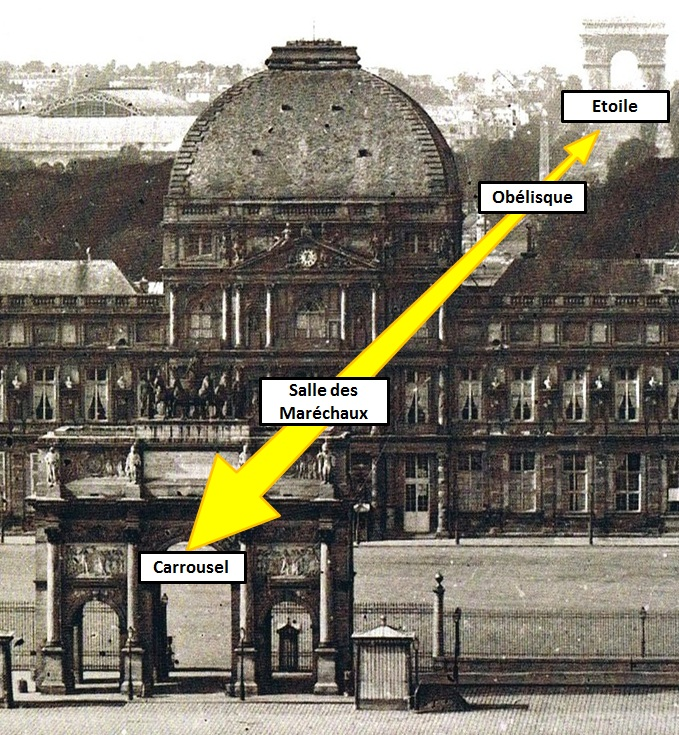 meissonier_Les ruines du palais des Tuileries 1860 Axe Glorieux