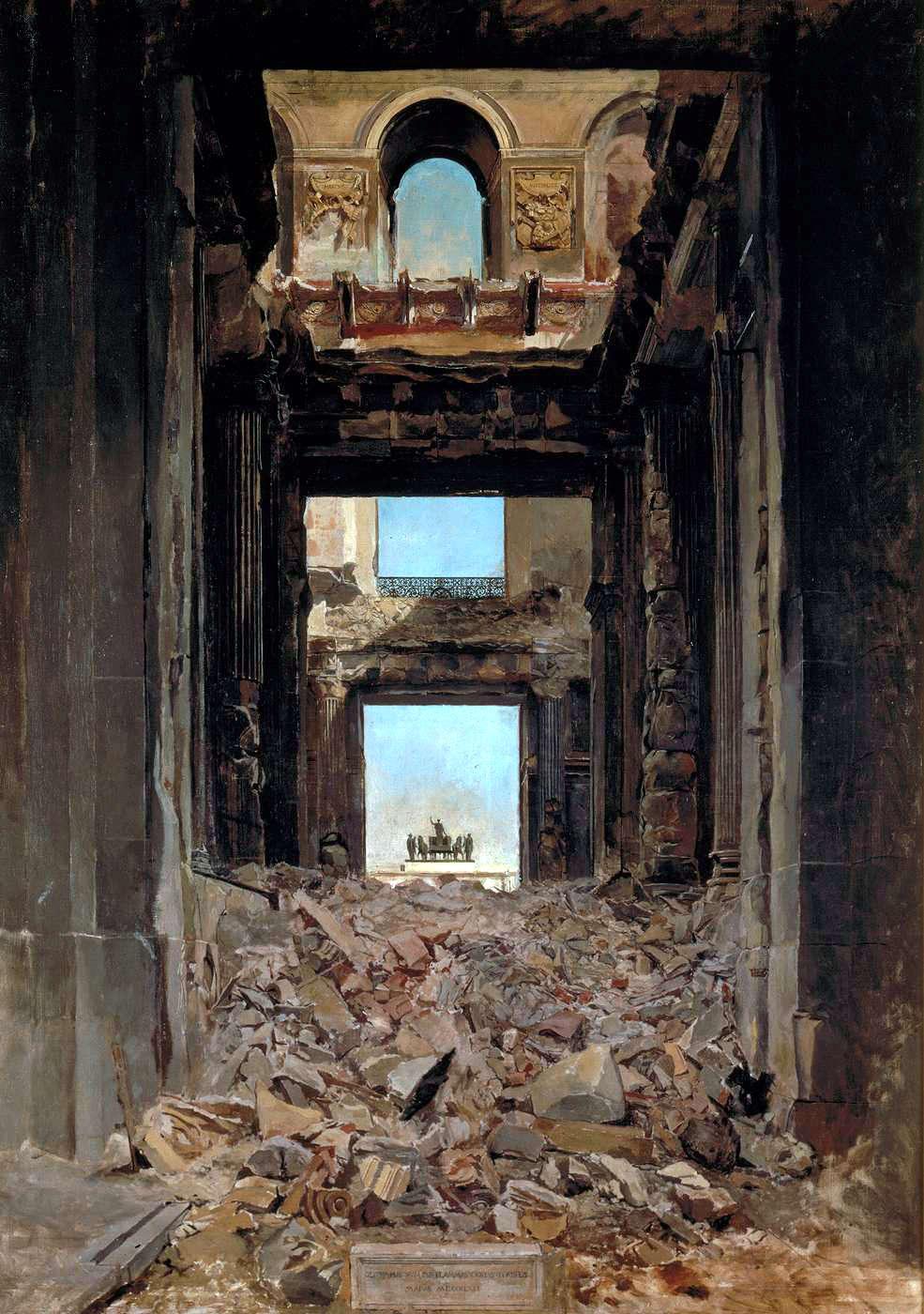 meissonier_Les ruines du palais des Tuileries 1871