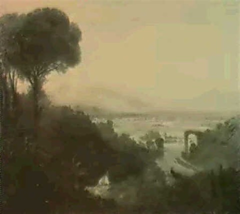 william-linton-the-broken-bridge-at-narni-near-orvieto